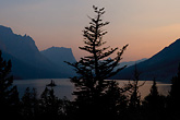 st mary lake, glacier national park, montana, sunset